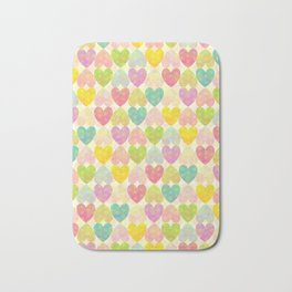 Colorful Sweet Candy Heart Pattern II Bath Mat