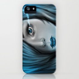Blue Tear iPhone Case