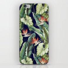 Night tropical garden II iPhone Skin