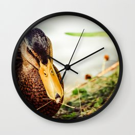 Duck Bow Wall Clock