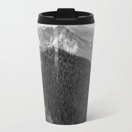 Mountain Landscape Photography Black and White Travel Mug