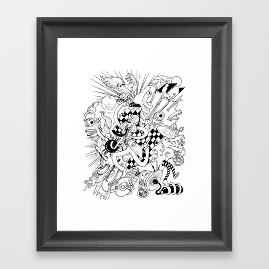 I've seen things (Black & White) Framed Art Print