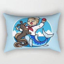 A Merboy and his Sea Dog Rectangular Pillow