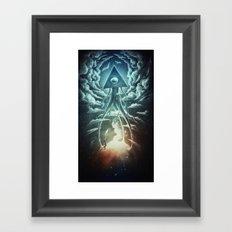 War Of The Worlds I. Framed Art Print