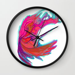 Bright abstract butterfly Wall Clock