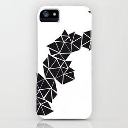 Illustration of irregular triangles iPhone Case