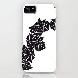 Illustration of irregular triangles iPhone Case