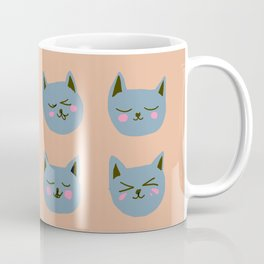 Abstraction_CAT_FACE_EXPRESSION_Minimalism_001 Coffee Mug
