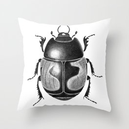 Beetle 10 Throw Pillow