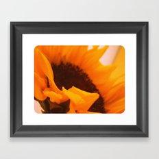 SunflowerPower ~ retro sunny orange flower Framed Art Print