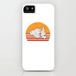 Vintage Goldfish Sunset Retro Gift iPhone Case