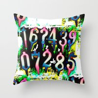 numbers Throw Pillows featuring Numbers! by gasponce