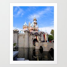 Sleeping Beauty's Holiday Castle Art Print