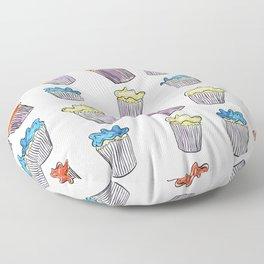 Sweet Tooth Cupcake Pattern Floor Pillow
