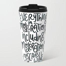 Moderation (blue) Travel Mug