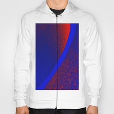 Design in colors Blue Red Hoody