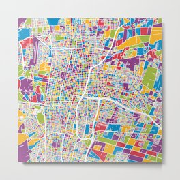 Mendoza Argentina City Street Map Metal Print