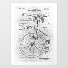 No010 Bicycle And Toy Gun Art Print