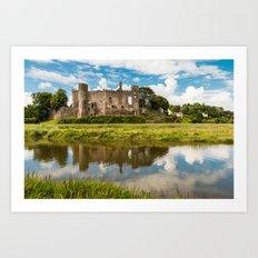 Laugharne Castle Art Print