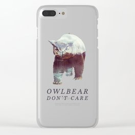 Owlbear (Typography) Clear iPhone Case