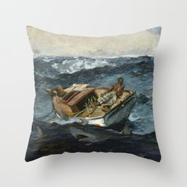 Winslow Homerr /  The Gulf Stream Throw Pillow