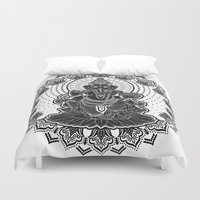 ganesha Duvet Covers featuring Ganesha by Konstantin Myatchin