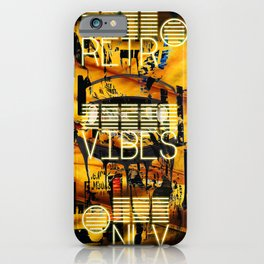 retro vibes only iPhone Case