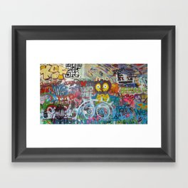 Graffiti Love Framed Art Print