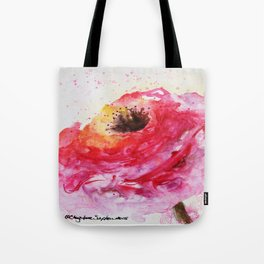 Big Pink Rose Blossom watercolor by CheyAnne Sexton Tote Bag