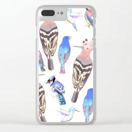 Birds watercolor in tetrad color scheme Clear iPhone Case