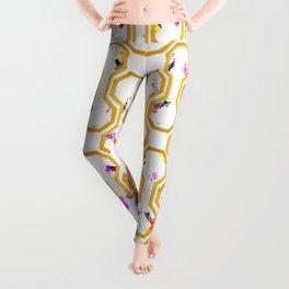 Gold geometric pattern Leggings