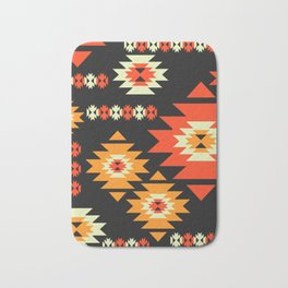 Native geometric shapes Bath Mat