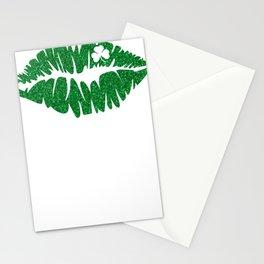 New St. Pats Irish Glitter Lips Stationery Cards