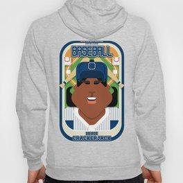 Baseball Blue Pinstripes - Deuce Crackerjack - Aretha version Hoody
