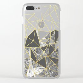 Ab Marb Grey Returned Clear iPhone Case