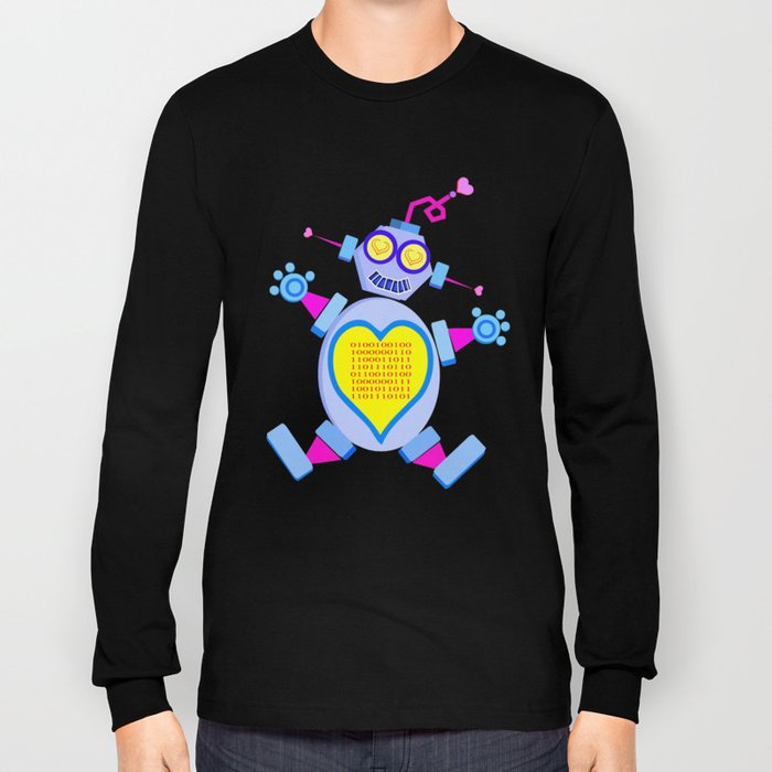 I Love You (In Binary)  |  Lovebot Long Sleeve T-shirt