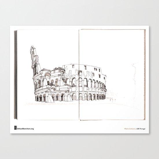 """Mário Linhares """"Colosseum Rome"""" Canvas Print"""