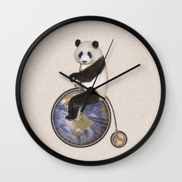 Penny Makes the World Go Around Wall Clock