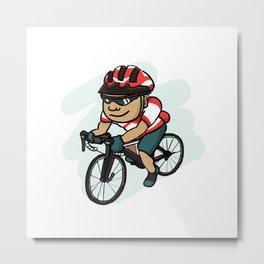 Cycling Fanatics Metal Print