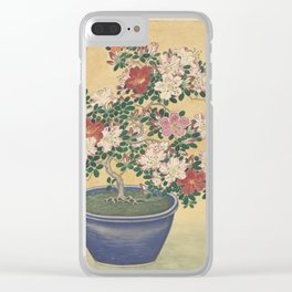 Blooming azalea in blue pot - Ohara Koson (1920 - 1930) Clear iPhone Case