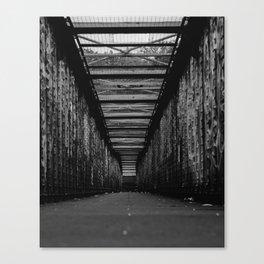 Graffiti City (Black and White) Canvas Print