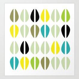 Cowrie Dots-Multi Art Print