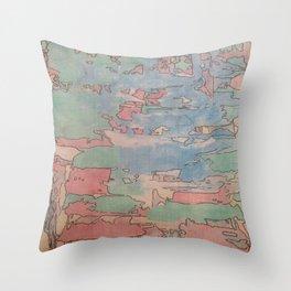 Colourfull world Throw Pillow