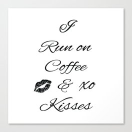 Coffee and Kisses Canvas Print