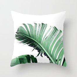 Banana Leaves #3 Throw Pillow