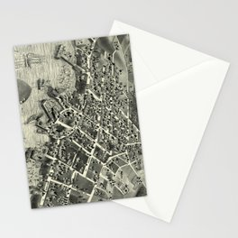 Vintage Pictorial Map of Edgartown MA (1886) Stationery Cards