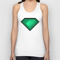 diamond Tank Tops featuring Diamond by eARTh