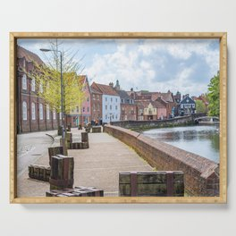 Quayside along the River Wensum, Norwich Serving Tray