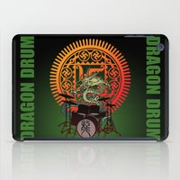 drum iPad Cases featuring Dragon drum by kuuma