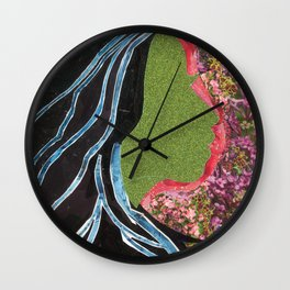 Black Hair Lady Wall Clock